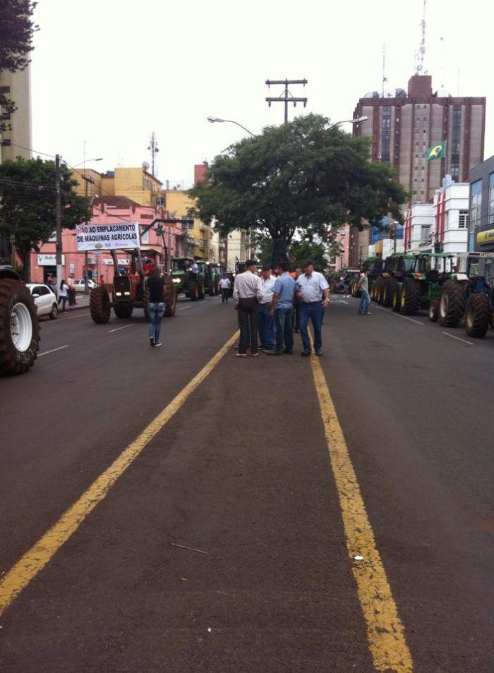 Protesto contra o emplacamento - Carazinho/RS