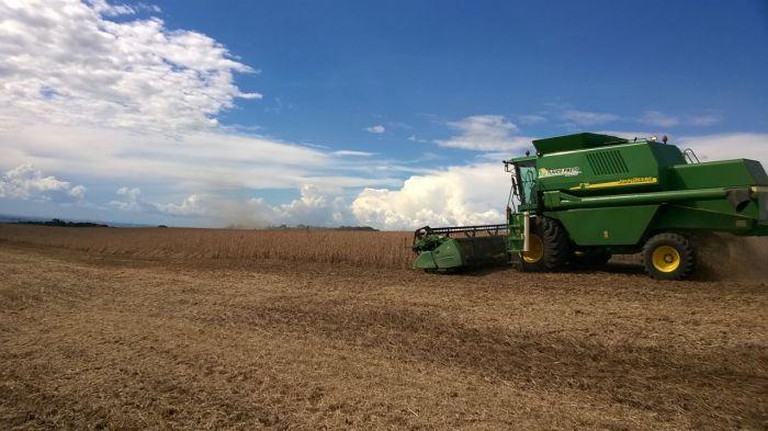 Imagem do Dia - Colheita de soja em Mangueirinha (PR), do produtor Bruno Aguiar