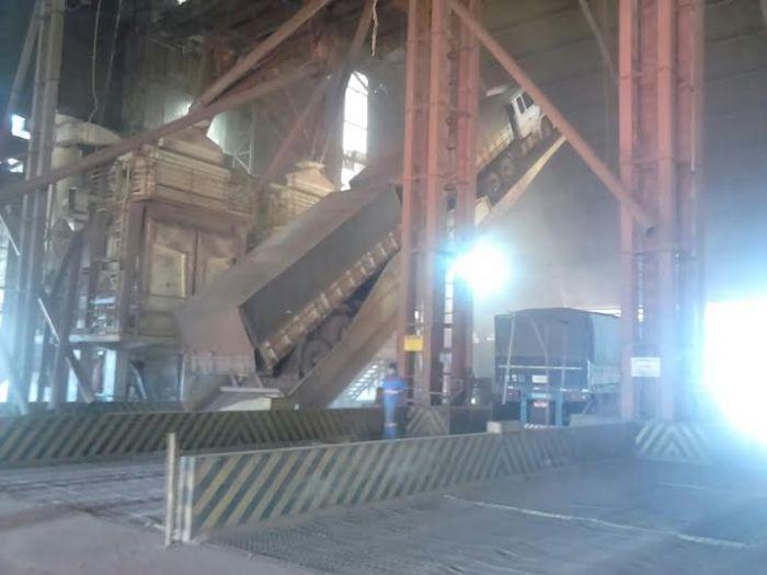 Imagem do dia - Greve MT - Soja chegando em um armazém em Sapezal (MT), sem problemas no local