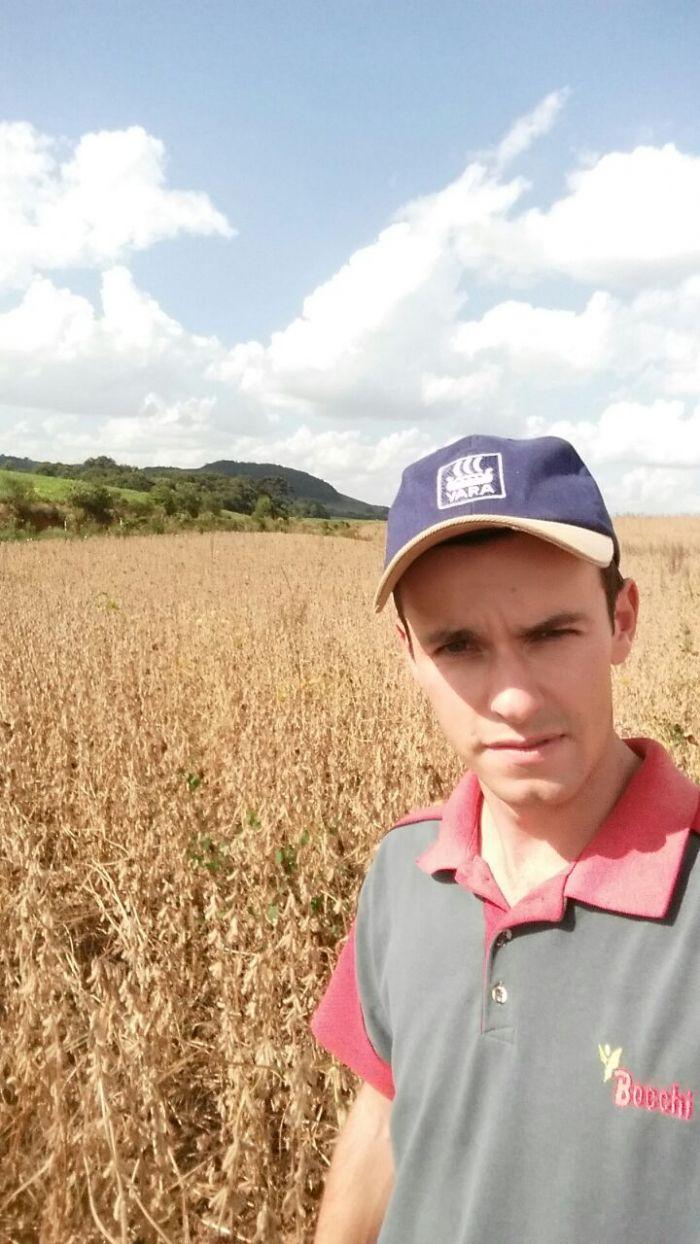 Imagem do dia - Colheita de Soja, em Guabiju (RS).Foto enviada pelo produtor Leonardo Biotto.