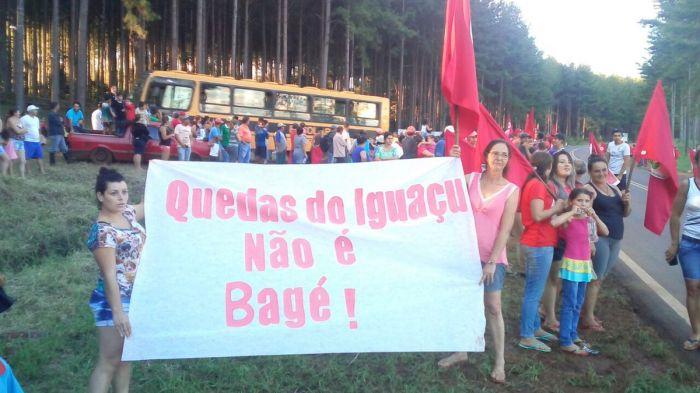 Lula em quedas do iguaçu