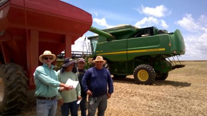 Imagem do dia - Colheita da soja na Fazenda Gilbertinho, em Tabaporã (MT). Envio de Régis Liesenfeld