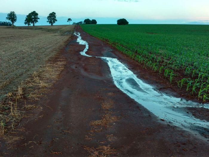 Imagem do dia - Excesso de chuvas em Caarapó (MS), no sítio Santa Luzia