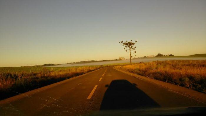 Imagem do dia - Caminho até o armazém Agrottoni, em Soledade (RS). Envio de Márcia Rita Franson