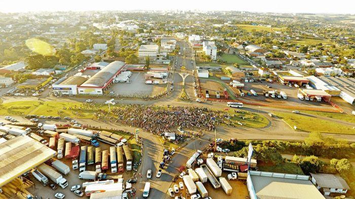Protesto em apoio aos caminhoneiros em Carazinho/RS - Jacir Carvalho