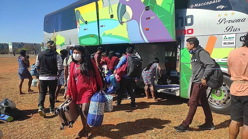 Acampamento indígena em Brasília (2)