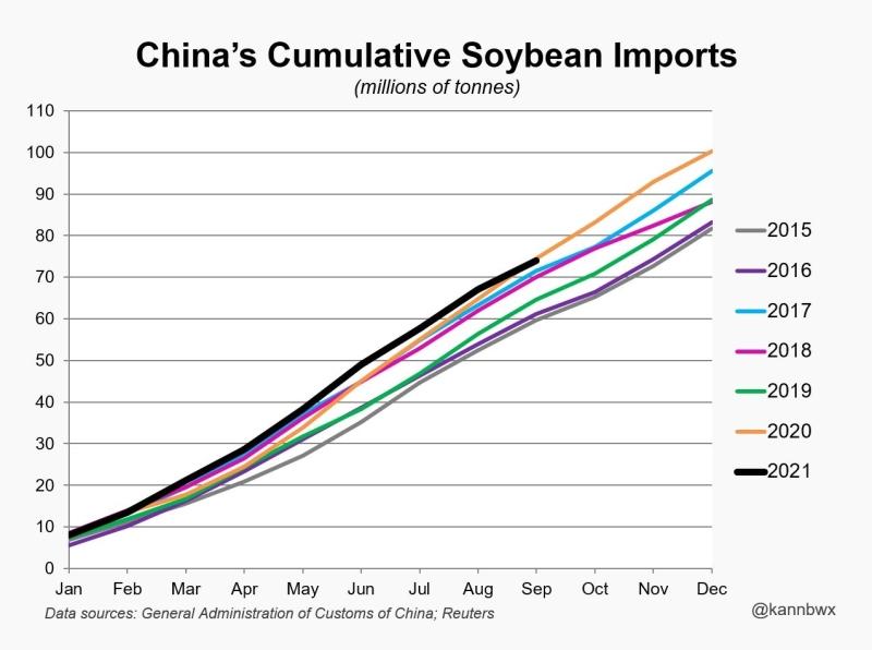 Importações acumuladas China