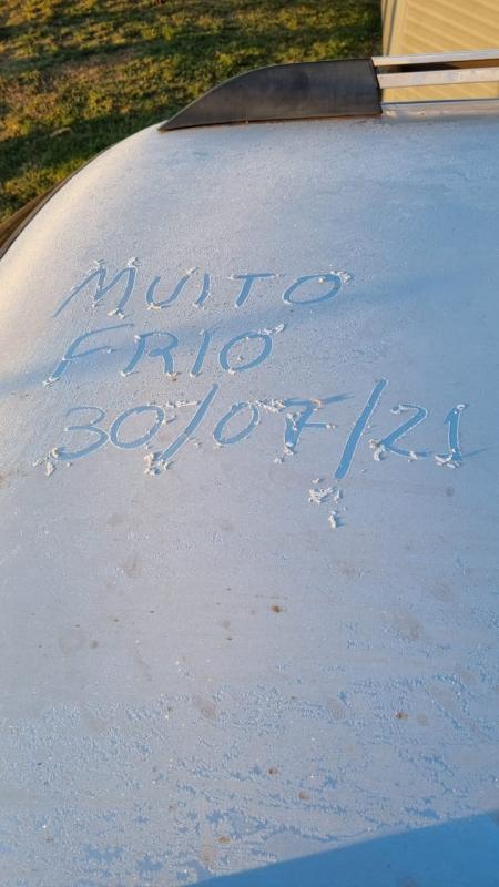 Clima Frio na região de Rio Brilhante - MS